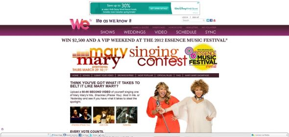 Mary Mary Singing Contest