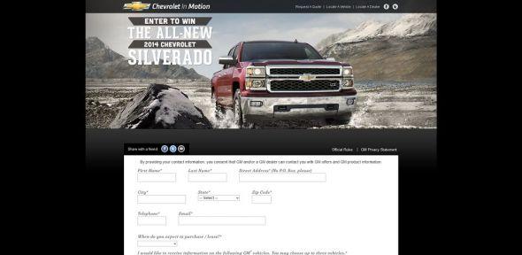 www.chevyinmotion.com – 2014 Chevrolet Silverado Giveaway