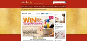 Kellogg's Snackpicks Spring Cleaning Online Sweepstakes