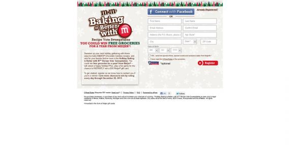 Holiday Baking Is Better With M Recipe Vote Sweepstakes