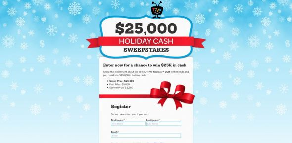 TiVo Holiday Cash Sweepstakes