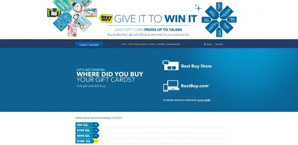 BestBuy.com/GiveToWin – Best Buy Give It to Win It Sweepstakes