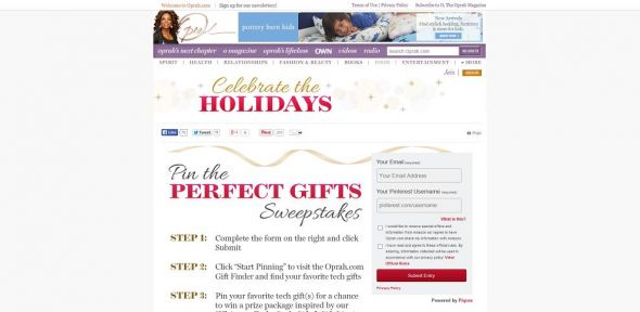 Pin The Perfect Gifts Sweepstakes