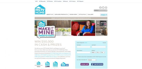 HGTVHome.com/MakeItMine – HGTV HOME Make It Mine Sweepstakes