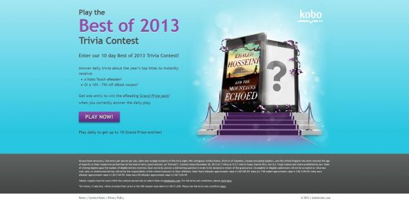 Kobo's Best of 2013 Trivia Contest