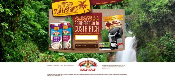 CoffeeLoversTrip.com – Land O'Lakes Coffee Lovers Sweepstakes