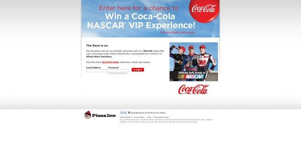 Coca-Cola and NASCAR Instant Win & Sweepstakes