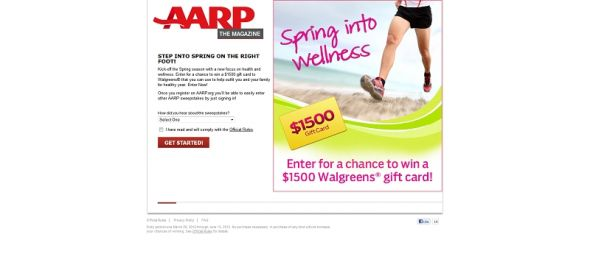AARP The Magazine's $1,500 Spring Into Wellness Sweepstakes