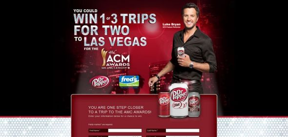Dr Pepper fred's ACM Awards Promotion
