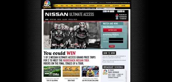 nbcsports.com/UltimateAccess – NBC Sports Cycling Sweepstakes