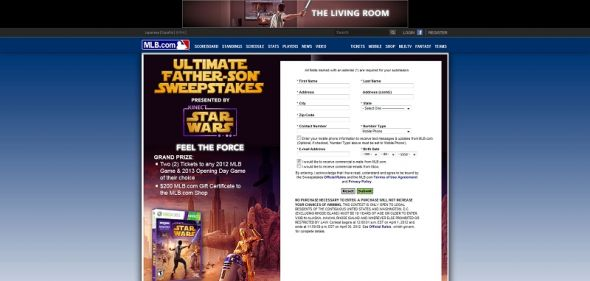 Ultimate Father-Son Sweepstakes presented by Kinect Star Wars