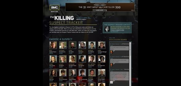 suspecttracker.amctv.com – AMC's The Killing Suspect Tracker Sweepstakes