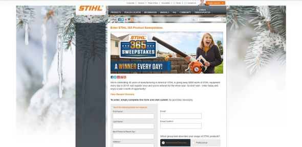 STIHL 365 Product Sweepstakes