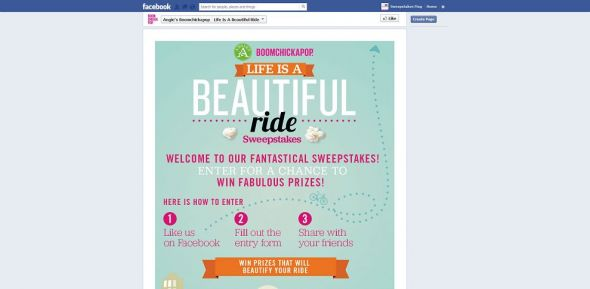 Angie's Life is a Beautiful Ride Sweepstakes