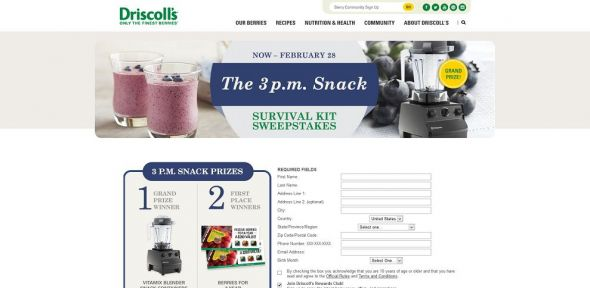 Driscoll's 3PM Survival Kit Sweepstakes