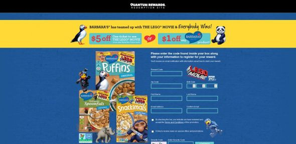 barbarasgiveaway.com – Barbara's THE LEGO MOVIE Giveaway On Pack Sweepstakes