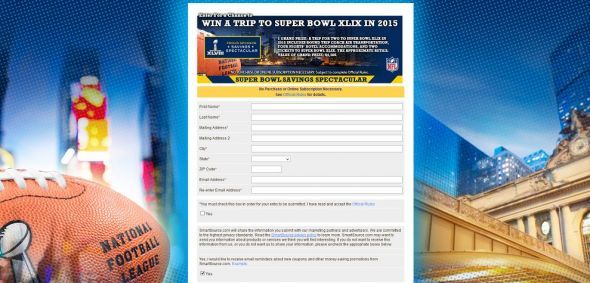 SmartSource Savings Spectacular Super Bowl XLIX Sweepstakes