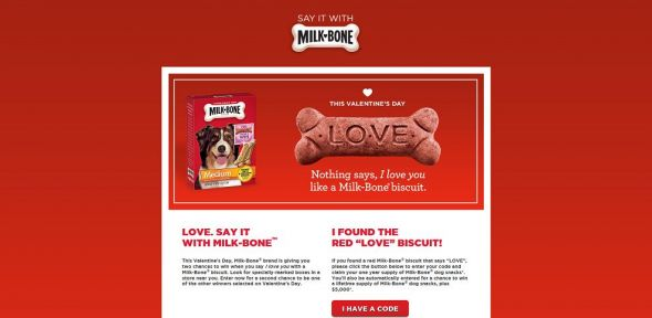 Love. Say it with Milk Bone Promotion