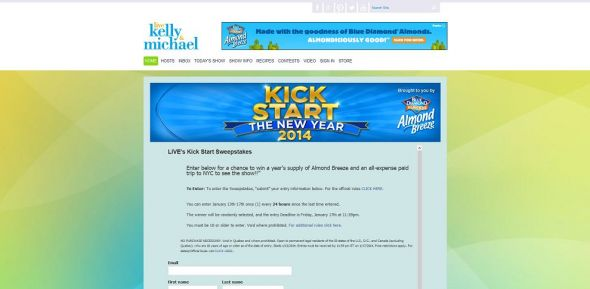 Kick Start the New Year Sweepstakes