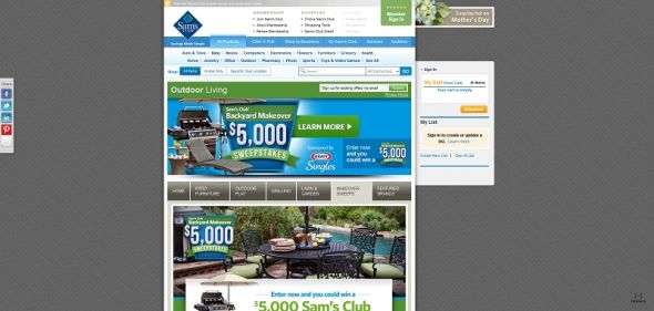 Sam's Club $5,000 Backyard Makeover Sweepstakes