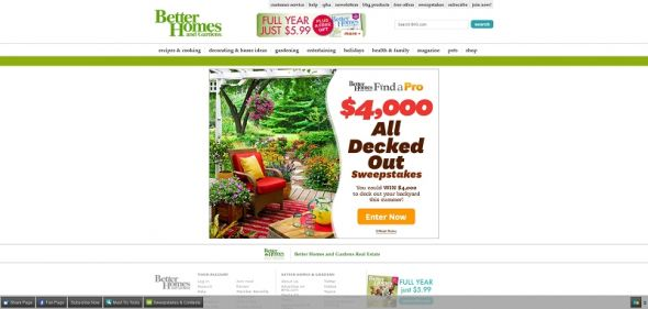 Better Homes And Gardens All Decked Out Find A Pro Sweepstakes