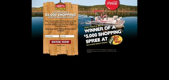 drinkcocacolaandwin.com – Coca-Cola Casey's General Store Bass Pro Shops Sweepstakes and Instant Win