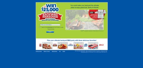 kraftbackyardbbq.com – Kraft Ultimate Backyard BBQ Sweepstakes