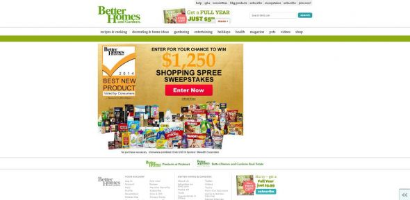 Best new product awards sweepstakes Bhg g