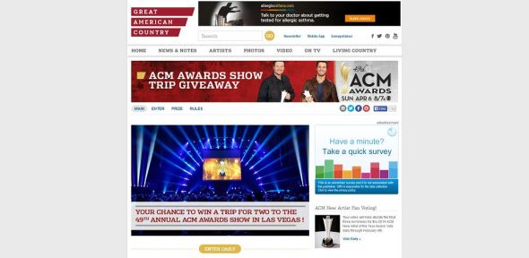 GAC ACM Awards Show Trip Sweepstakes