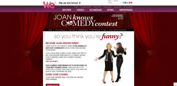 WE tv Joan Knows Comedy Contest