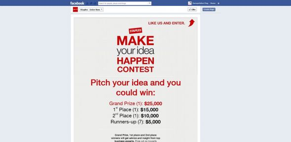 Staples Make Your Idea Happen Contest