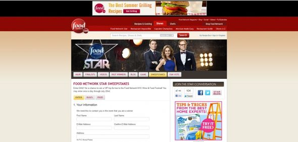 Food Network Star Sweepstakes
