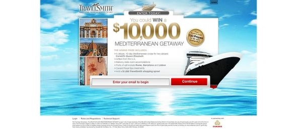 travelsmithcontests.com – $10,000 Mediterranean Getaway Sweepstakes and Instant Win