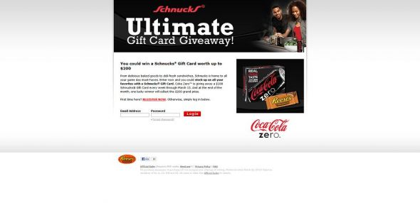 Schnucks Coke Zero College Cook-Off Sweepstakes