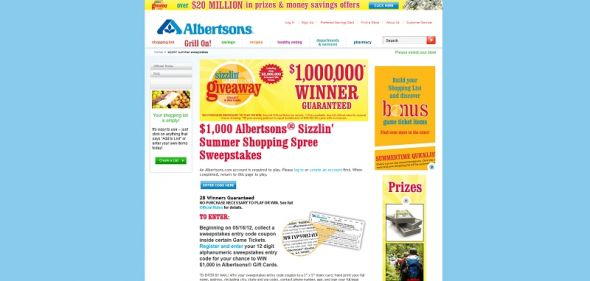 albertsons.com/sizzlinsummer – Albertsons SIZZLIN' SUMMER GIVEAWAY Collect & Win Game