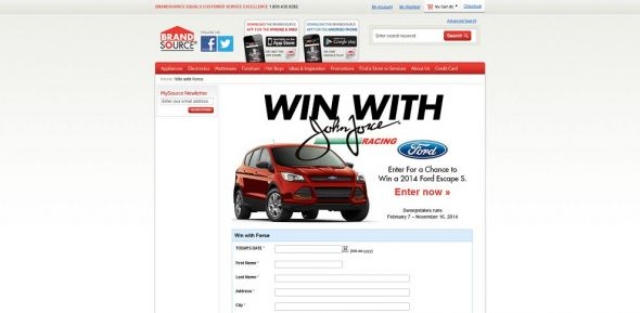 Win With Force – Ford Escape Sweepstakes