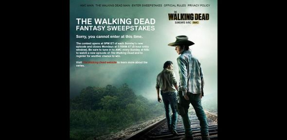 www.thewalkingdeadfantasysweepstakes.com –  The Walking Dead Fantasy Sweepstakes
