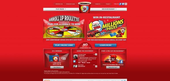 Tim Hortons Roll Up the Rim to Win Contest