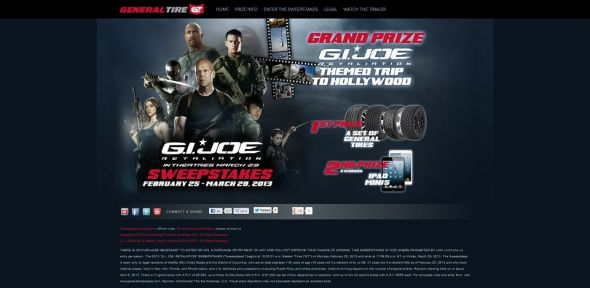 G.I. JOE: RETALIATION Sweepstakes