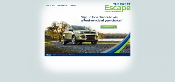 2013 Ford Escape Tour Sweepstakes