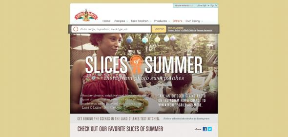 LAND O LAKES Premium Deli Cheese Slices of Summer Instagram Photo Sweepstakes