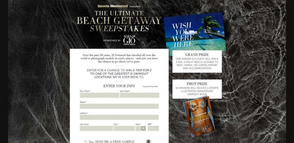 Sports Illustrated Ultimate Beach Getaway Sweepstakes