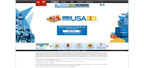 www.usawinsgold.com – McDonald's 2012 USA Wins Game