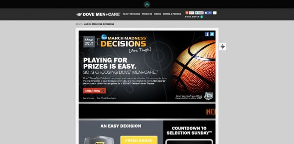 Dove Men+Care NCAA March Madness Decisions Promotion