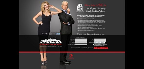 2012 Lifetime Project Runway NYC Fashion Week Promotion