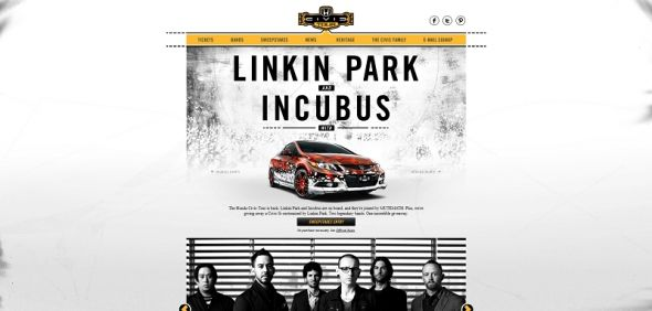 Honda Civic Tour Drive Away with Linkin Park Sweepstakes