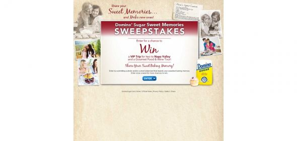 Domino Sugar Sweet Memories Sweepstakes