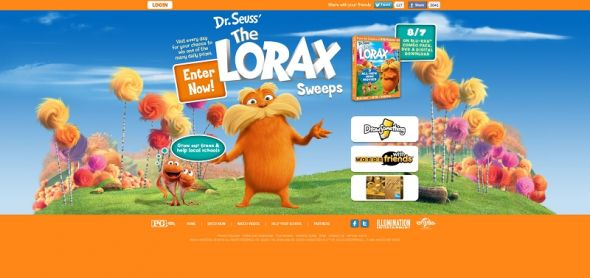 Lorax Truffula Trees Instant Win Game