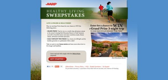 AARP Healthy Living Sweepstakes
