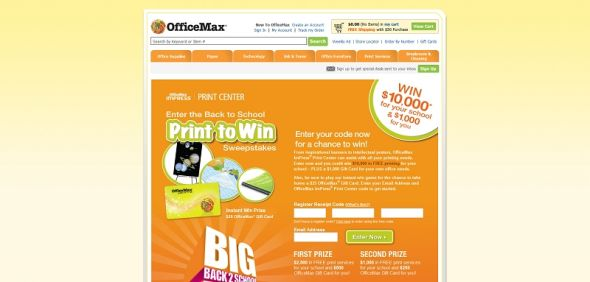 officemax.com/printtowin – OfficeMax ImPress Print Center Back To School Sweepstakes